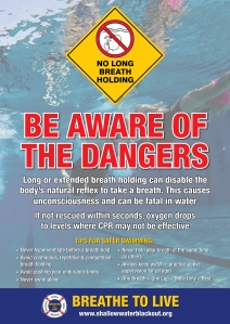 Be Aware of The Dangers of Long Breath Holding Underwater.